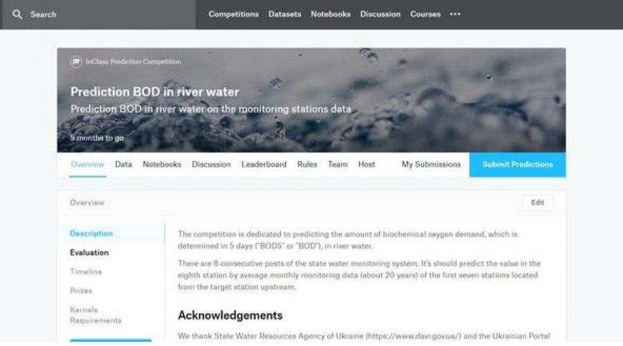 Конкурс передбачення забруднення води